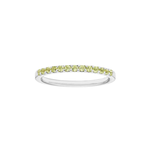14k White Gold Peridot Stackable Ring Holtan's Jewelry Winona, MN
