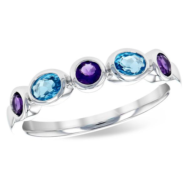 Amethyst and Blue Topaz Fashion Ring Holtan's Jewelry Winona, MN