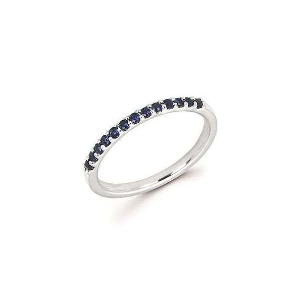 14k White Gold Blue Sapphire Stackable Ring Holtan's Jewelry Winona, MN