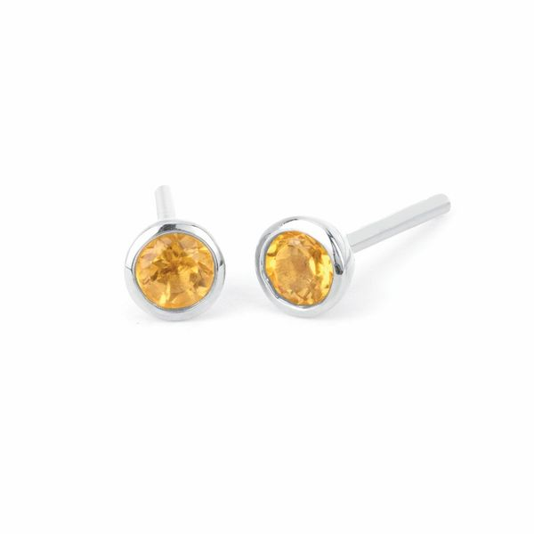Bezel Set Citrine Earrings Holtan's Jewelry Winona, MN