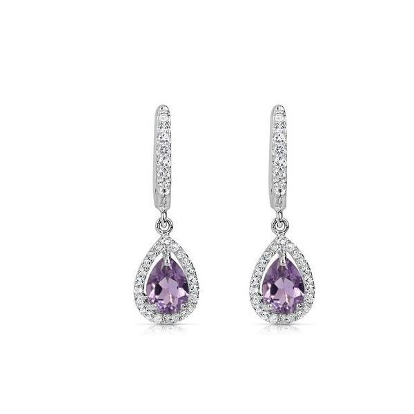 Pear Shaped Amethyst Dangle Earrings Holtan's Jewelry Winona, MN