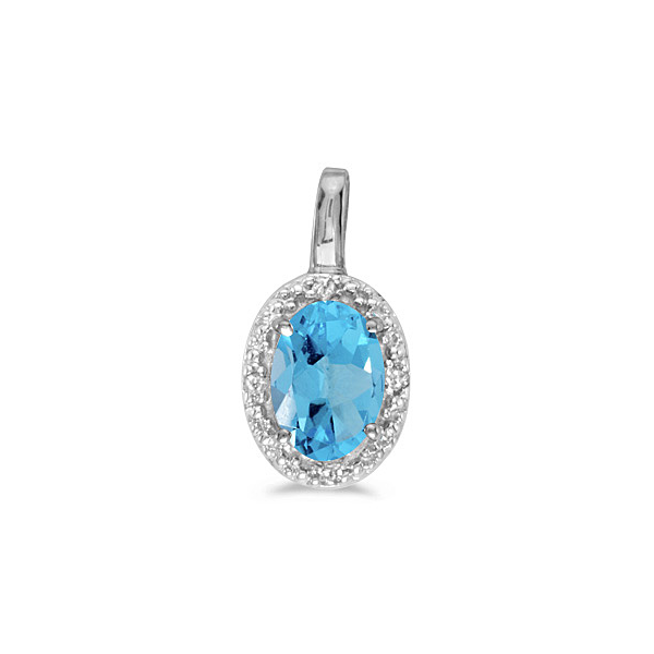 Blue Topaz and Diamond Pendant Holtan's Jewelry Winona, MN