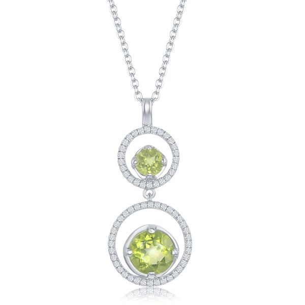 Circular Drop Pendant with Peridot Accents Holtan's Jewelry Winona, MN