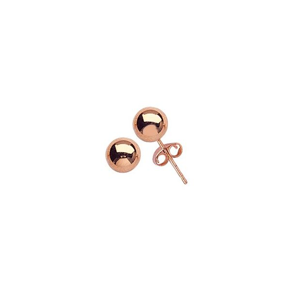 Rose Gold 6mm Ball Holtan's Jewelry Winona, MN