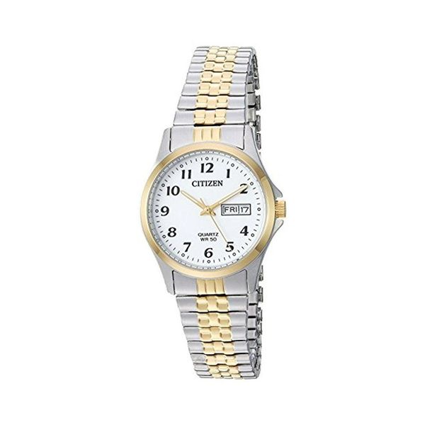 Citizen Stainless Steel And Gold Tone Expansion Watch