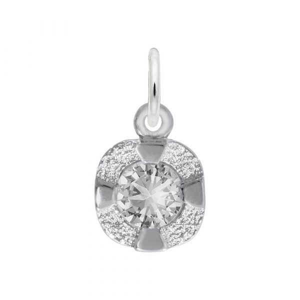 Petite April Birth Stone Charm Holtan's Jewelry Winona, MN