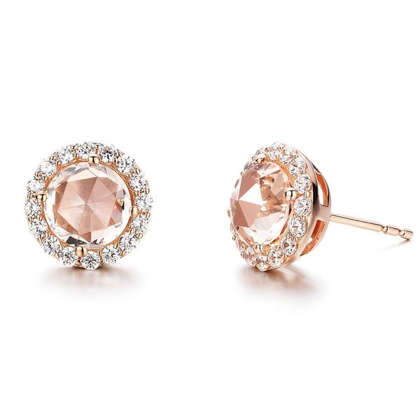 Lafonn Simulated Morganite Rose Gold Plated Earrings Holtan's Jewelry Winona, MN