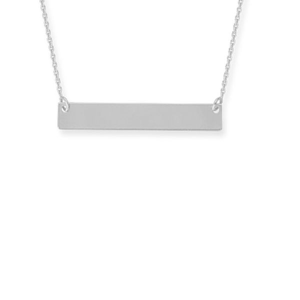 Petite Silver Bar Necklace Holtan's Jewelry Winona, MN