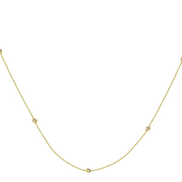 Gold Plated Long & Lovely Station Necklace Holtan's Jewelry Winona, MN