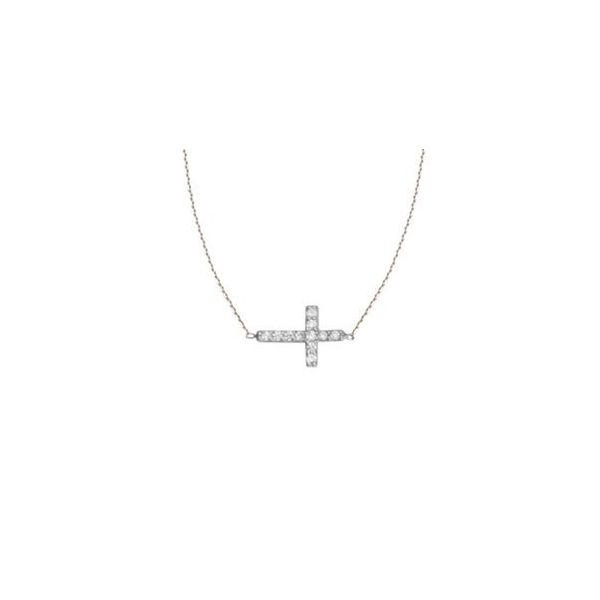 Petite East to West Cross Necklace Holtan's Jewelry Winona, MN