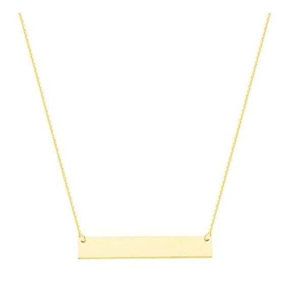 Gold Plated Petite Bar Necklace Holtan's Jewelry Winona, MN