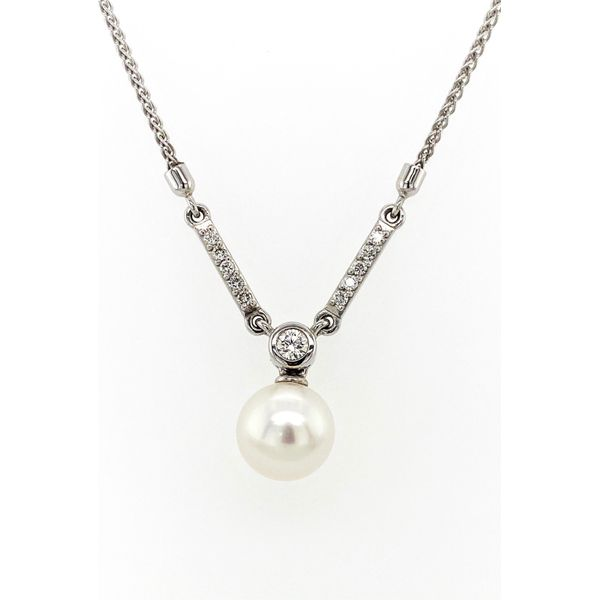 14K Gold Diamond Pearl Necklace Jais Providenciales,