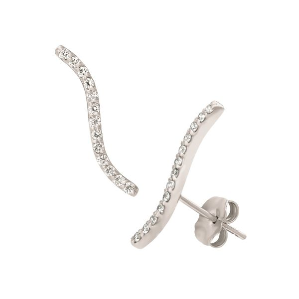 14K White Gold Diamond Earrings Jais Providenciales,