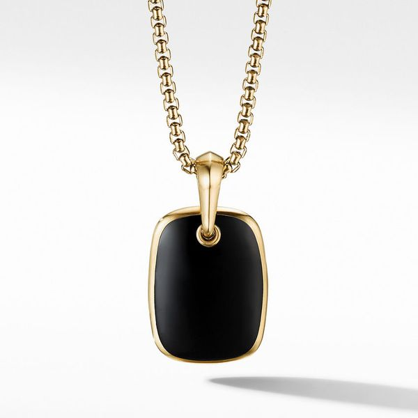 Exotic Stone Collection Black Onyx Pendant Jais Providenciales,