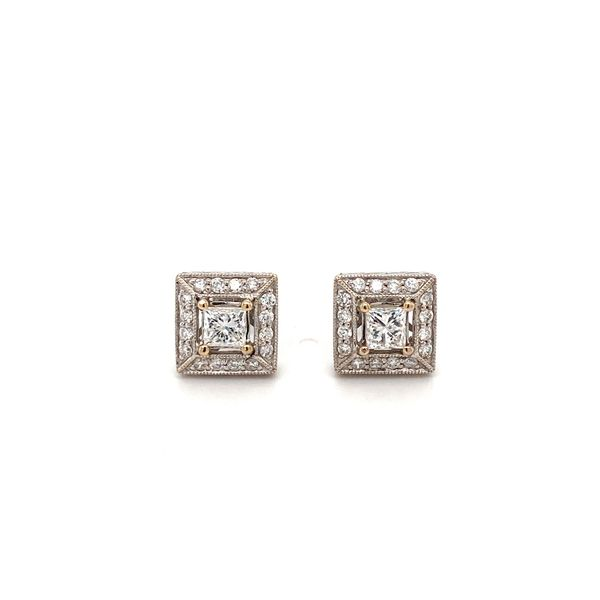 18K Gold Diamond Earring Jais Providenciales,