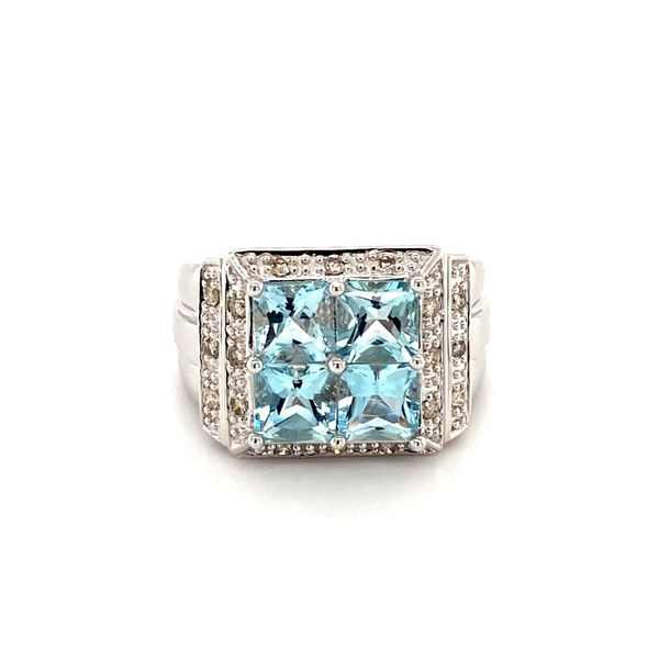 Aquamarine Diamond Ring Jais Providenciales,