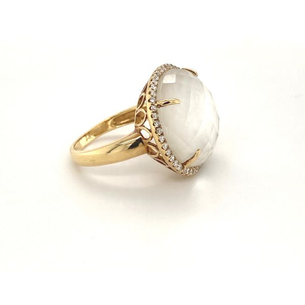 Diamond and Mother of Pearl Ring Image 2 Jais Providenciales,