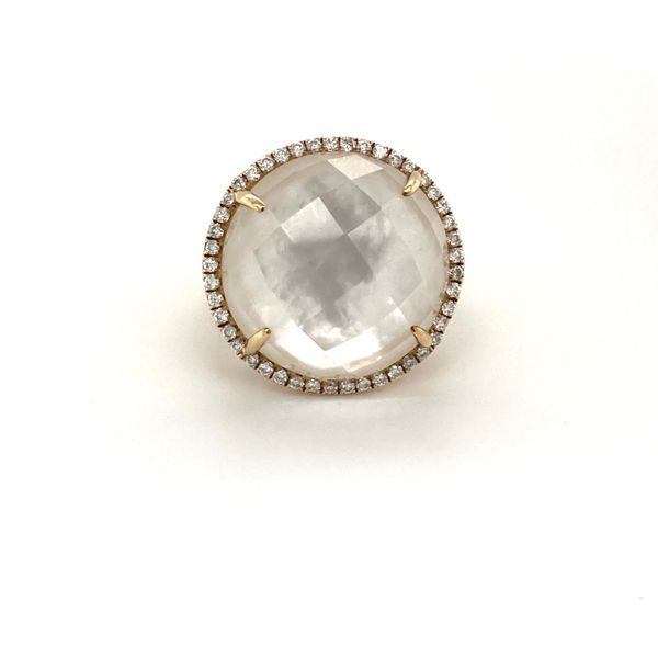 Diamond and Mother of Pearl Ring Jais Providenciales,