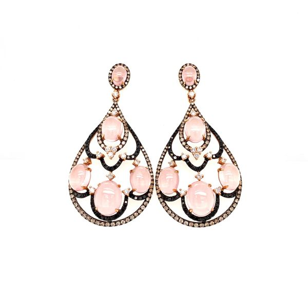 Rose Quartz Drop Earring Jais Providenciales,
