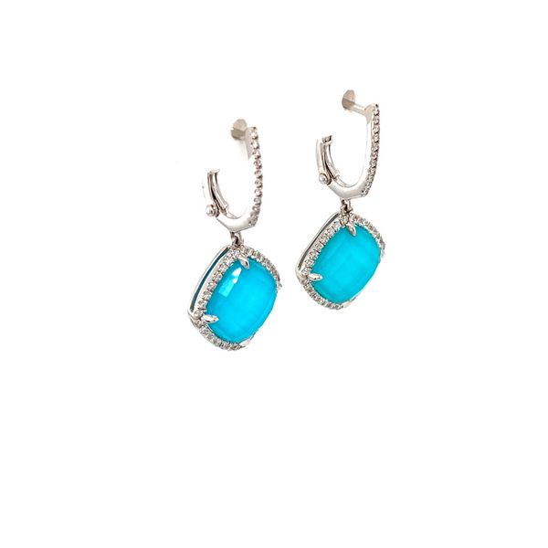 Turquoise & Diamond Earring Image 2 Jais Providenciales,