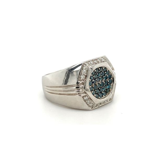 Blue Diamond Ring Image 2 Jais Providenciales,