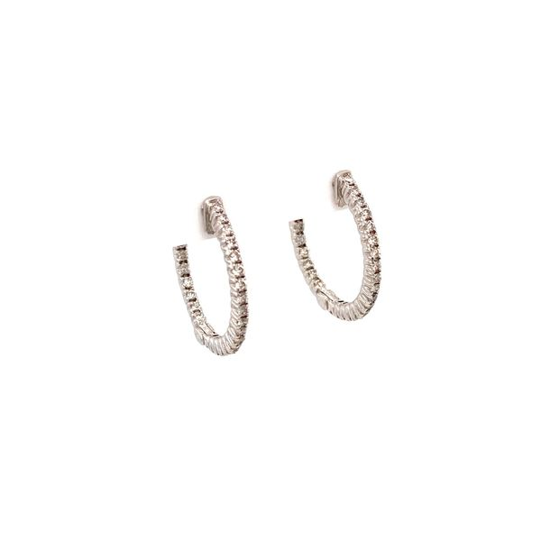 White Gold Diamond Hoops Image 2 Jais Providenciales,