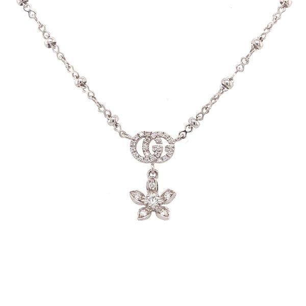 Flora diamond Necklace Image 2 Jais Providenciales,