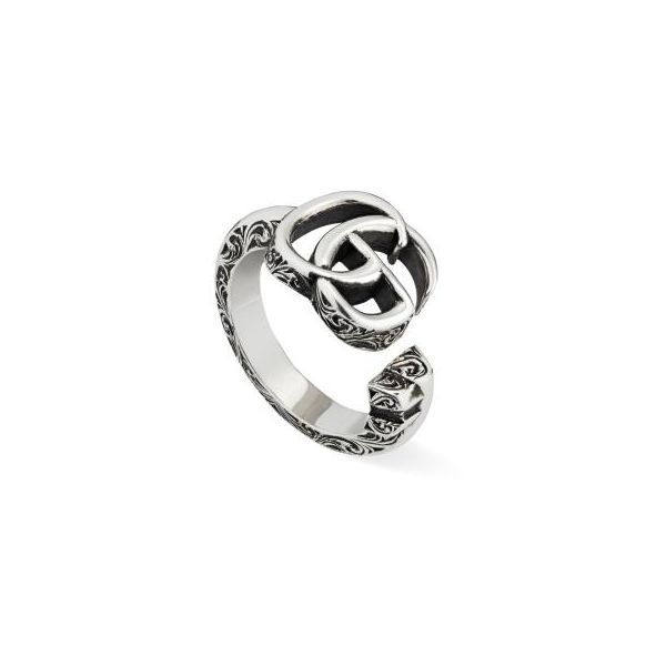 Double G key silver ring Jais Providenciales,