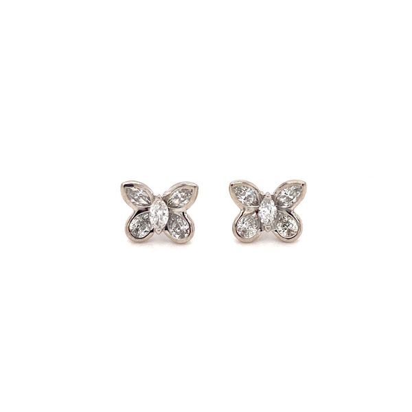 Butterfly Diamond Earrings Image 2 Jais Providenciales,