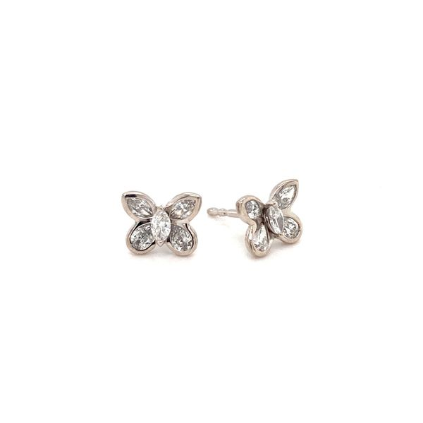 Butterfly Diamond Earrings Jais Providenciales,