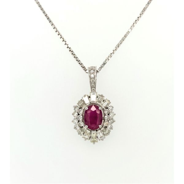 Ruby and Diamond Pendant Jais Providenciales,