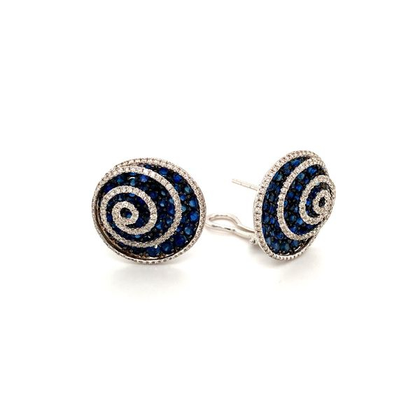 Sapphire & Diamond Earrings Image 2 Jais Providenciales,