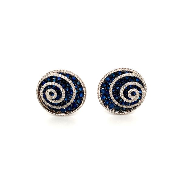 Sapphire & Diamond Earrings Jais Providenciales,