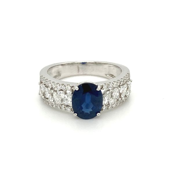 Sapphire and Diamond Ring Jais Providenciales,