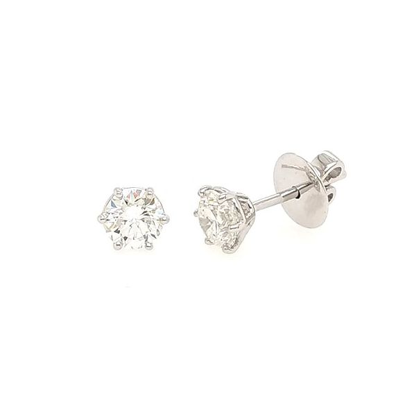 Diamond Solitaire Earrings Jais Providenciales,