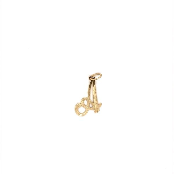 Gold Initial Charm Jais Providenciales,