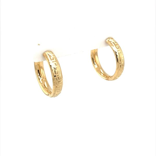 Gold Hoop Earrings Jais Providenciales,
