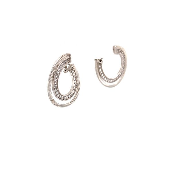 Mercer White Sapphire Earrings Image 2 Jais Providenciales,