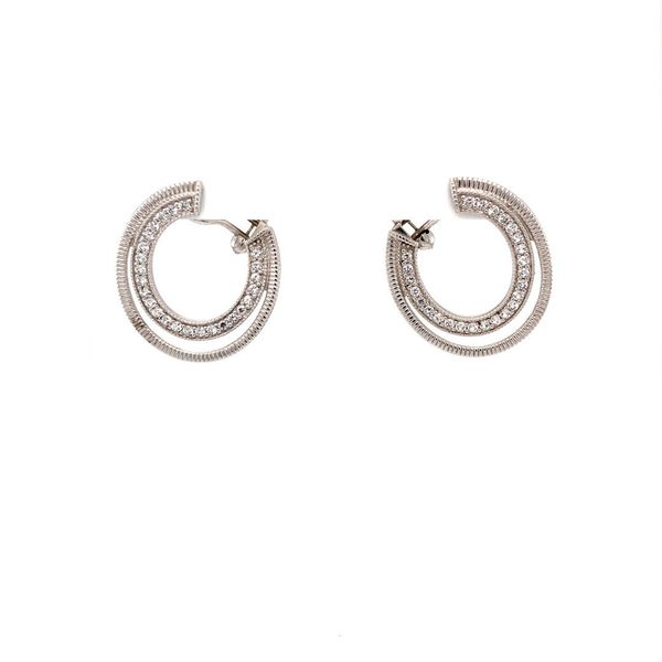 Mercer White Sapphire Earrings Jais Providenciales,