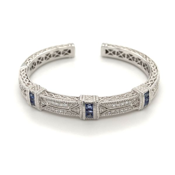 Estate Diamond & Sapphire Bangle Jais Providenciales,
