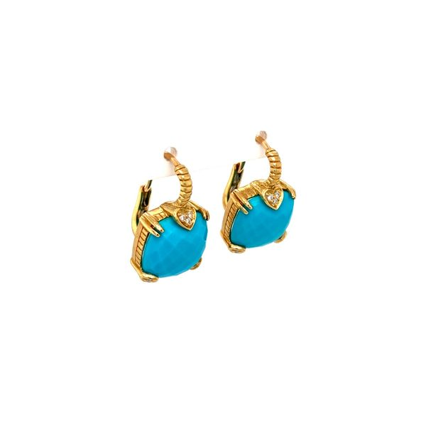 Lola Turquoise Earrings Image 2 Jais Providenciales,