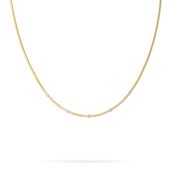 Masai Three Station Diamond Necklace Jais Providenciales,