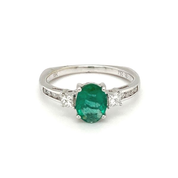 Emerald and Diamond Ring Jais Providenciales,