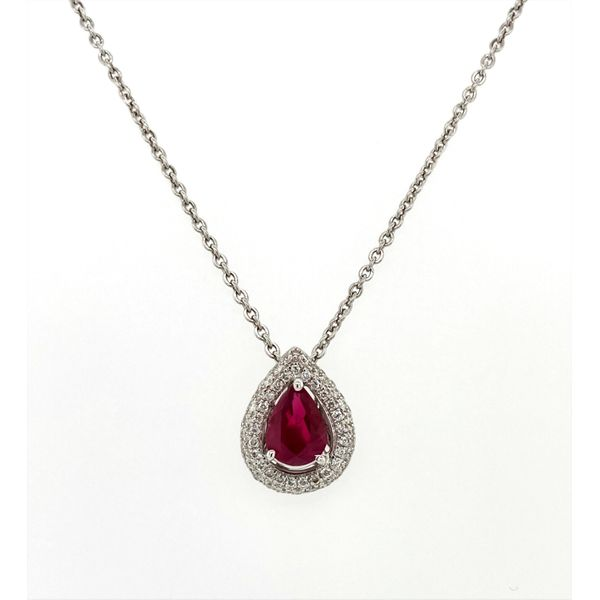 Ruby and Diamond Necklace Jais Providenciales,