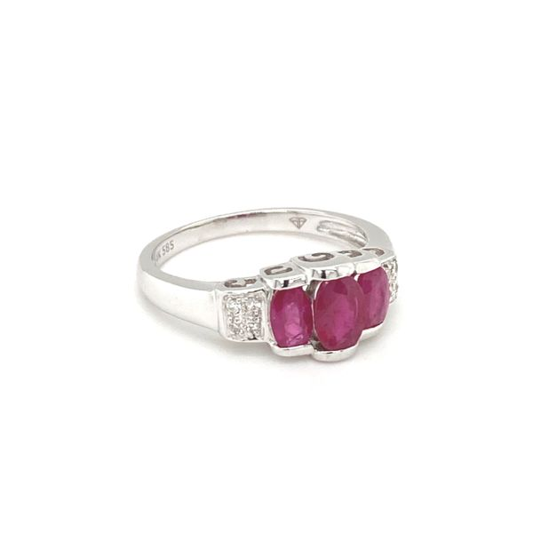 Three Rubies Diamond Ring Image 2 Jais Providenciales,
