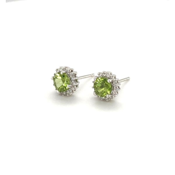 Peridot & Diamond Earrings Image 2 Jais Providenciales,