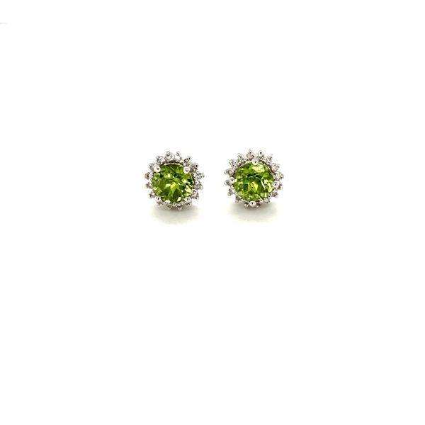 Peridot & Diamond Earrings Jais Providenciales,