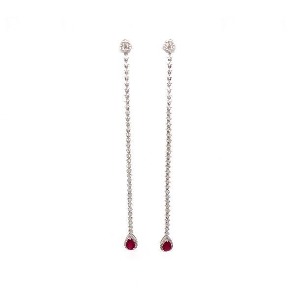 Ruby & Diamond Earrings Jais Providenciales,