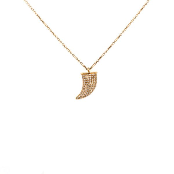 Curved Horn Diamond Necklace Jais Providenciales,