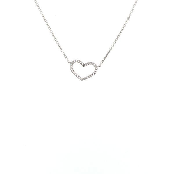 Diamond Heart Necklace Jais Providenciales,